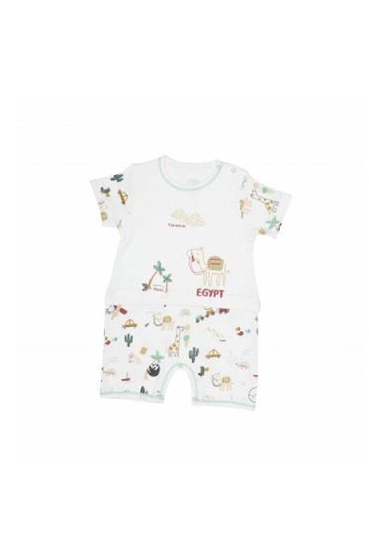 Luggi Baby Kısa Kol Bebe Tulum 5055 Orjinal