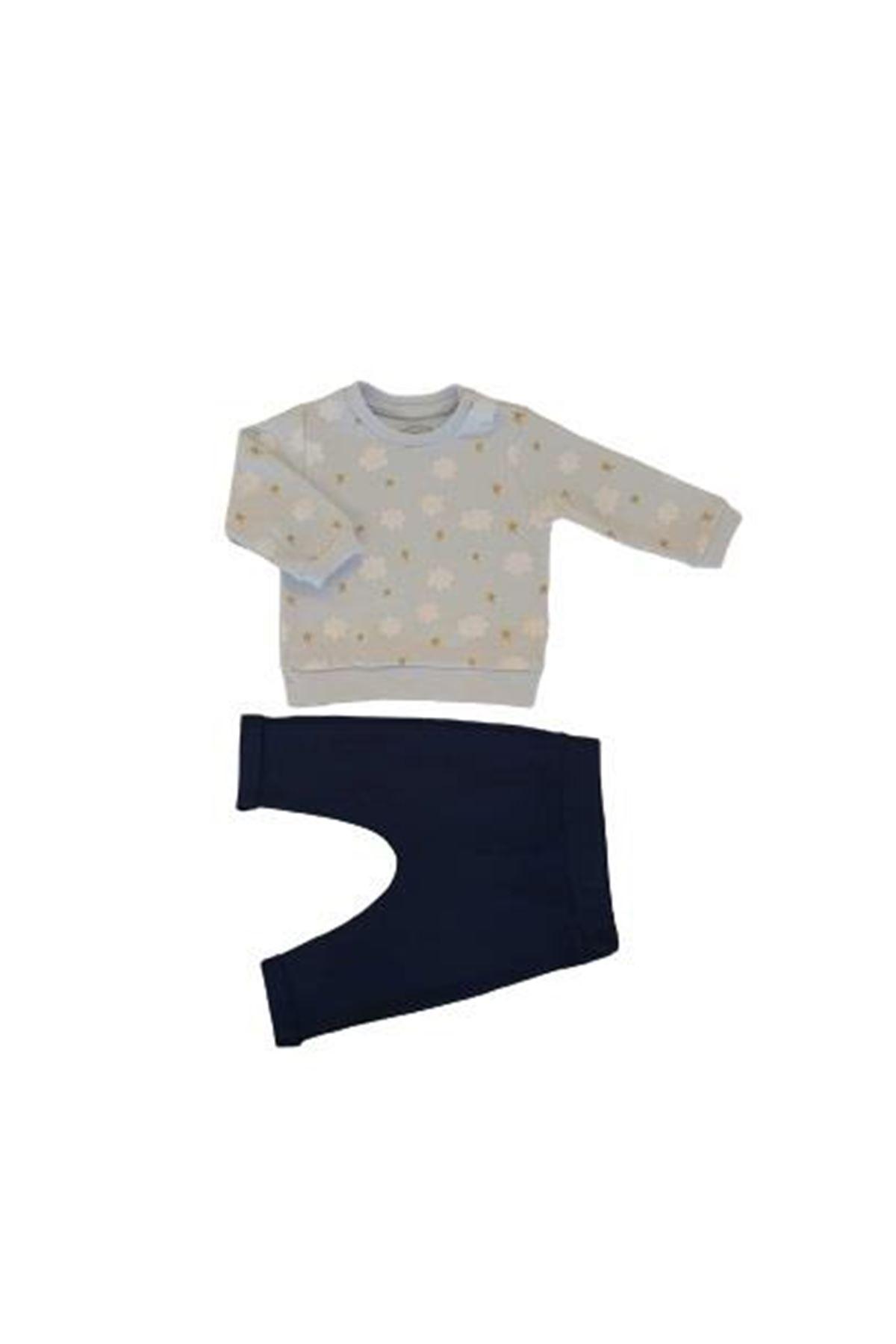 Tongs Baby Bulutlu 2li Bebe Takım 3516 Mavi