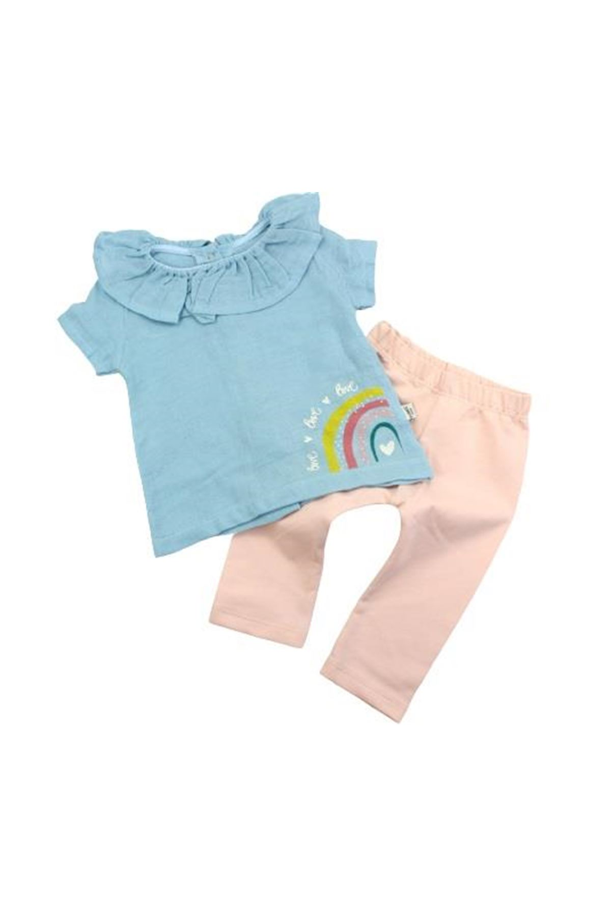 Tongs Baby Unicorn 2li Bebe Takım 2613 Mavi