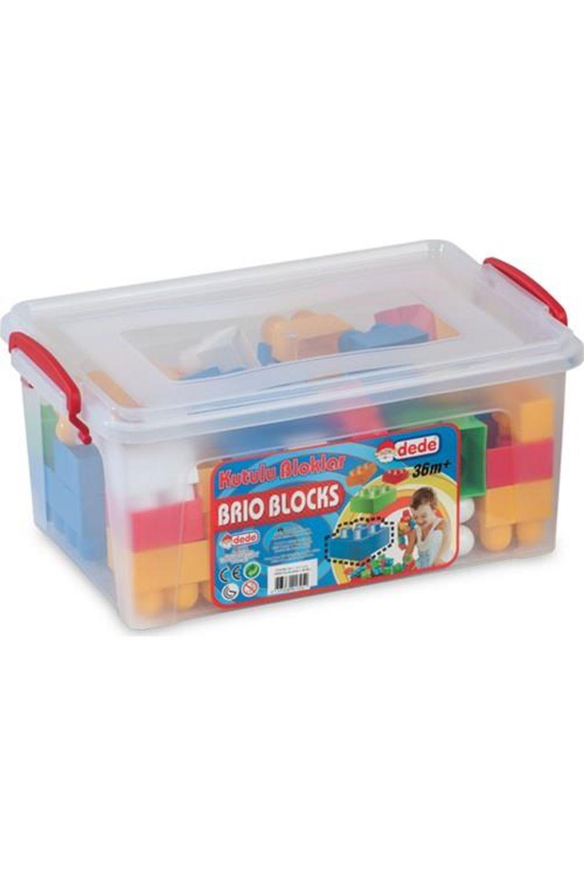 Dede Oyuncak Kutulu Bloklar No:1 58 Parça
