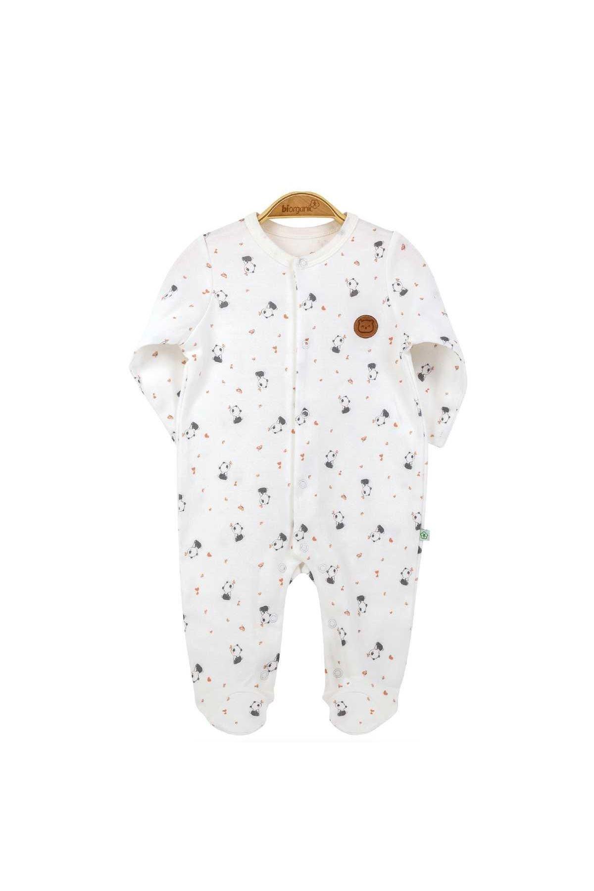 Bibaby Biorganic Elegant Panda Newborn Tulum 60528 Somon
