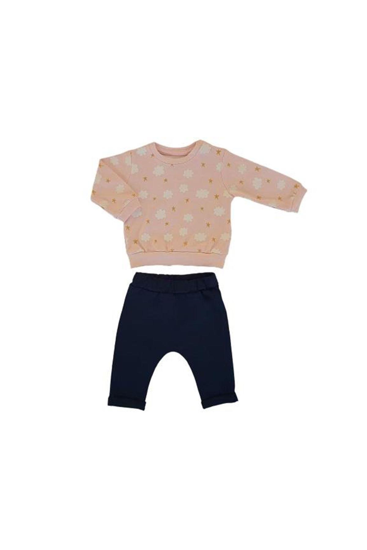 Tongs Baby Bulutlu 2li Bebe Takım 3516 Pembe