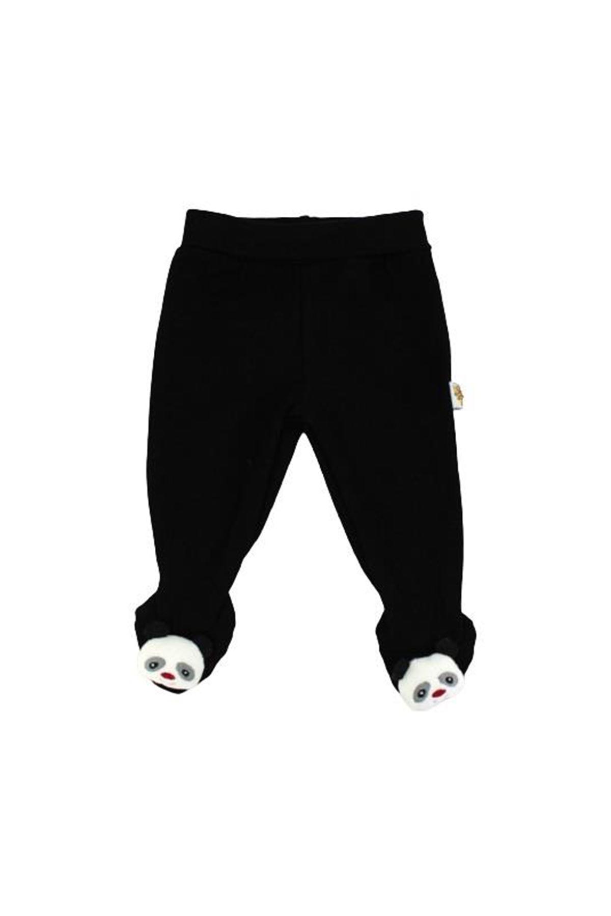 Albimini Minidamla Düz Oyuncaklı Patikli Pantolon 44178 Siyah